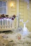 Decoração do Natal fora da casa Fotos de Stock Royalty Free