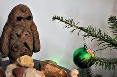 Decoração do Natal, golem, República Checa fotografia de stock