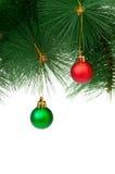 Decoração do Natal isolada Foto de Stock