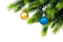 Decoração do Natal isolada Fotos de Stock Royalty Free