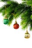 Decoração do Natal isolada Fotografia de Stock Royalty Free