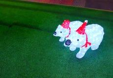 Decoração do Natal: Lâmpada do urso polar Imagens de Stock