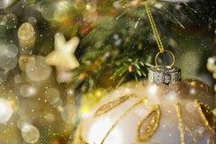 Decoração do Natal na árvore Fotos de Stock