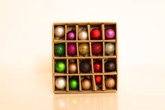 Decoração do Natal na caixa Foto de Stock