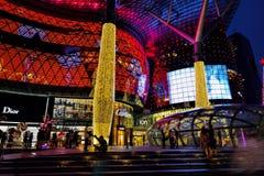 Decoração do Natal na estrada do pomar de Singapore Imagem de Stock Royalty Free