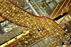 Decoração do Natal na estrada do pomar de Singapore Fotografia de Stock Royalty Free
