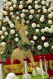 Decoração do Natal na estrada do pomar de Singapore Imagens de Stock Royalty Free