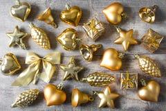 Decoração do Natal na madeira Fotografia de Stock