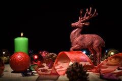 Decoração do Natal na tabela Imagens de Stock Royalty Free