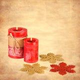 Decoração do Natal na textura Foto de Stock