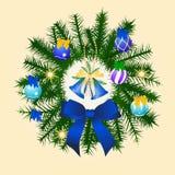 Decoração do Natal no azul Fotos de Stock
