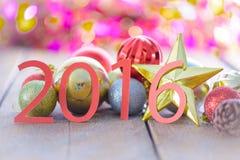 Decoração do Natal no bokeh abstrato Imagem de Stock