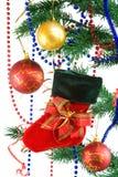Decoração do Natal no branco. imagens de stock