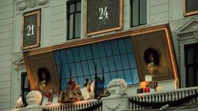 Decoração 2017 do Natal no dÂ'Angleterre do hotel, Copenhaga video estoque