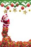 Decoração do Natal no fundo abstrato Feliz Natal e anos novos felizes do fundo Ideia do cartão Fotografia de Stock