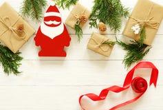 Decoração do Natal no fundo branco Fotografia de Stock Royalty Free