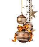 Decoração do Natal no fundo branco Fotos de Stock