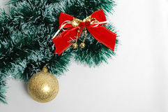 Decoração do Natal no fundo branco Fotografia de Stock