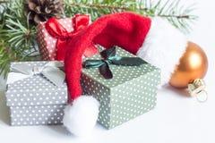 Decoração do Natal no fundo branco Imagens de Stock Royalty Free