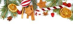Decoração do Natal no fundo branco fotos de stock royalty free