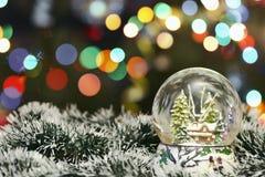 Decoração do Natal no fundo do bokeh Fotografia de Stock Royalty Free