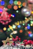 Decoração do Natal no fundo do bokeh Fotografia de Stock