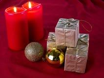 Decoração do Natal no vermelho Imagens de Stock