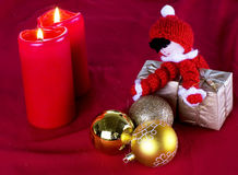 Decoração do Natal no vermelho Imagem de Stock Royalty Free