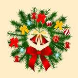 Decoração do Natal no vermelho Fotos de Stock Royalty Free
