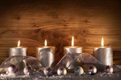 Decoração do Natal para a estação do advento Foto de Stock Royalty Free