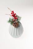 Decoração do Natal ramo de árvore em um vaso Foto de Stock Royalty Free