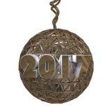 Decoração 2017 do ouro Imagem de Stock Royalty Free