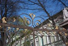 decoração do ouro da cerca foto de stock