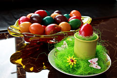 Decoração do ovo da páscoa Fotografia de Stock