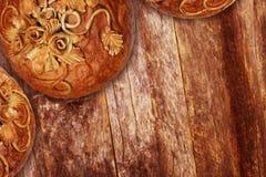 Decoração do pão de Rye Imagens de Stock
