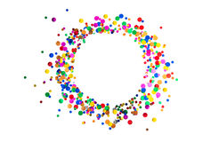 Decoração do partido de feriados do carnaval do aniversário do quadro dos confetes Fotos de Stock