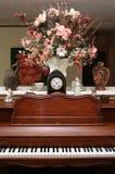 Decoração do piano foto de stock royalty free