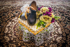 Decoração do presente de casamento Foto de Stock Royalty Free