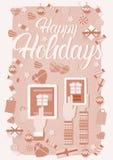 Decoração do presente do Natal da tabuleta do telefone do portátil do ano novo do dispositivo da eletrônica de dispositivo da pos Imagem de Stock Royalty Free