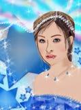 Decoração do retrato da menina Fotografia de Stock Royalty Free