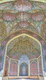 Decoração do ` s da mesquita, Shiraz, Irã Foto de Stock Royalty Free