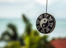Decoração do sinal de Ying yang Fotos de Stock Royalty Free