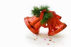 Decoração do sino de Natal - trajeto de grampeamento incluído fotografia de stock