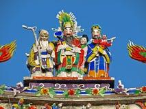 A decoração do telhado do templo oficial de Mazu Fotos de Stock