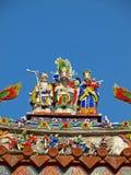 A decoração do telhado do templo oficial de Mazu Imagens de Stock Royalty Free
