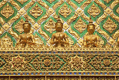 Templo no palácio grande Banguecoque Tailândia Fotos de Stock