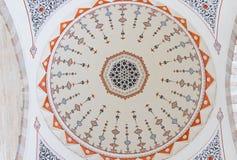 Decoração do teto da mesquita de Suleymaniye imagens de stock royalty free