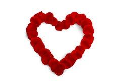 A decoração do Valentim vermelho do coração imagens de stock royalty free
