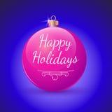 Decoração do vermelho da bola do Natal. Imagem de Stock