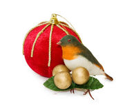 Decoração do vintage do Natal com trajeto de grampeamento imagens de stock royalty free